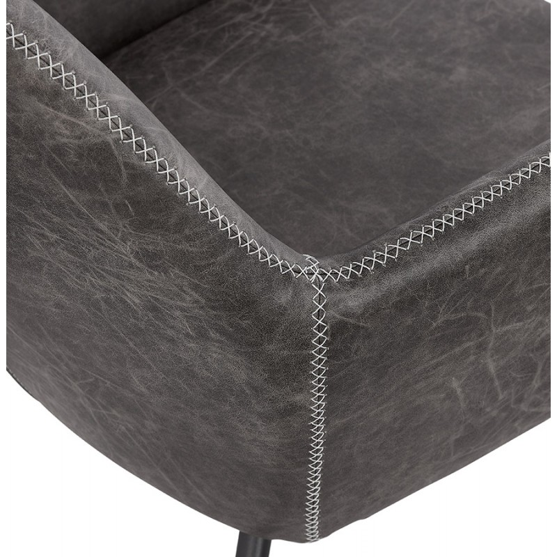Fauteuil lounge rétro et vintage HIRO (gris foncé) - image 43691