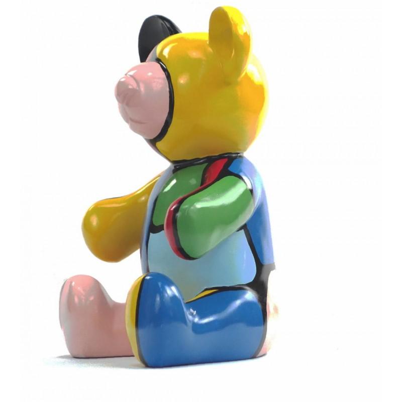 Conjunto de 3 estatuas esculturas decorativas diseño NOUNOURS resina H46/29/21 cm (Multicolor) - image 43715