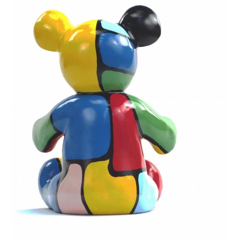 Set di 3 statue sculture decorative disegno NOUNOURS resina H46/29/21 cm (Multicolor) - image 43716