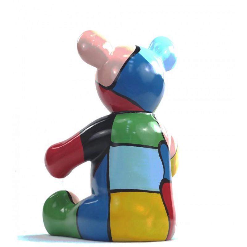 Set di 3 statue sculture decorative disegno NOUNOURS resina H46/29/21 cm (Multicolor) - image 43720