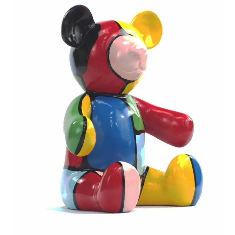 Set di 3 statue sculture decorative disegno NOUNOURS resina H46/29/21 cm (Multicolor) - image 43725