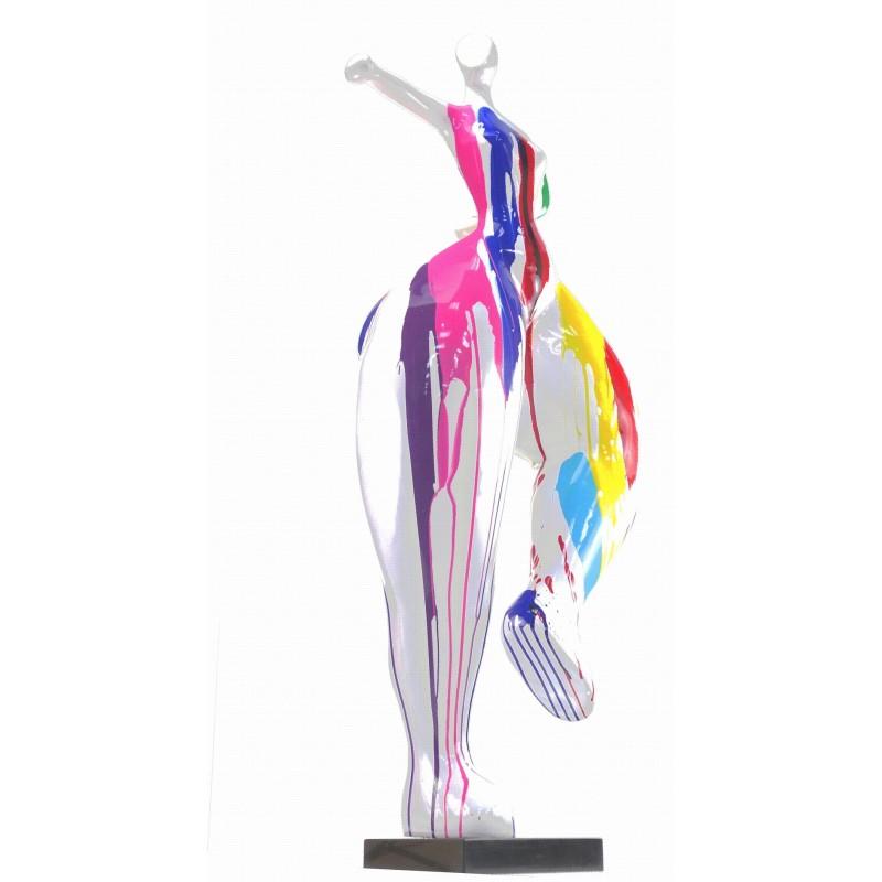 Statua scultura decorativa disegno DONNA ELEGANTE in resina H138 cm (multicolore) - image 43751