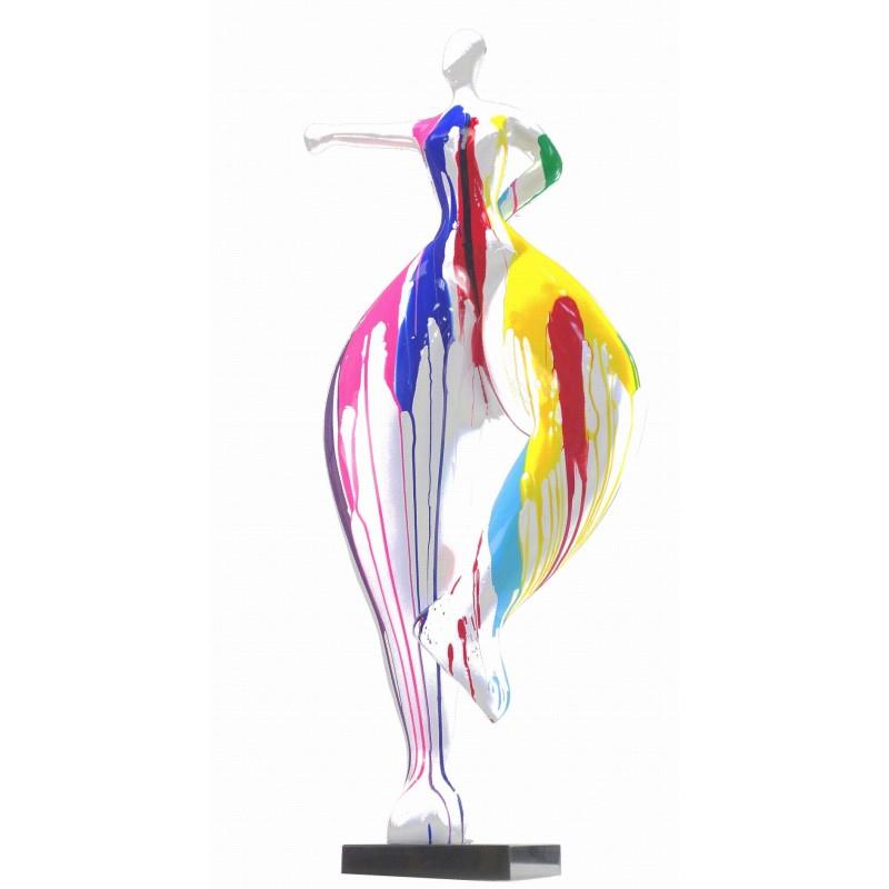 Statua scultura decorativa disegno DONNA ELEGANTE in resina H138 cm (multicolore) - image 43756