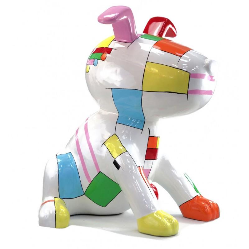 Statua scultura decorativa disegno CHIEN BANDE DESSINEE in resina H100 cm (Multicolor) - image 43759