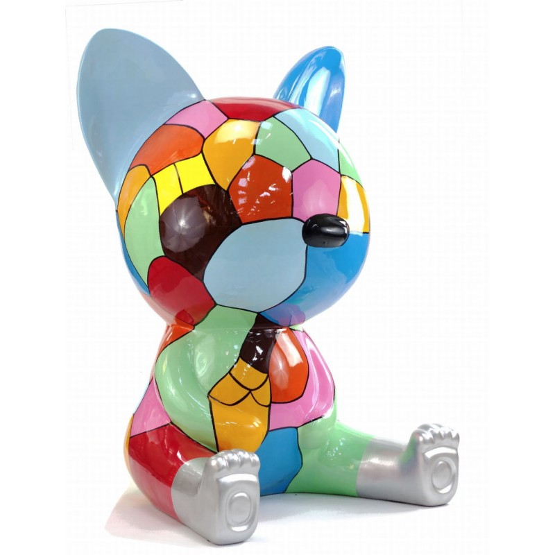 Statue decorative sculpture design CHAT ASSIS POP ART in resin H100 cm (Multicolored) - image 43769