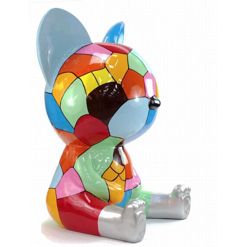 Diseño de escultura decorativa de la estatua CHAT ASSIS POP ART en resina H100 cm (Multicolor) - image 43770