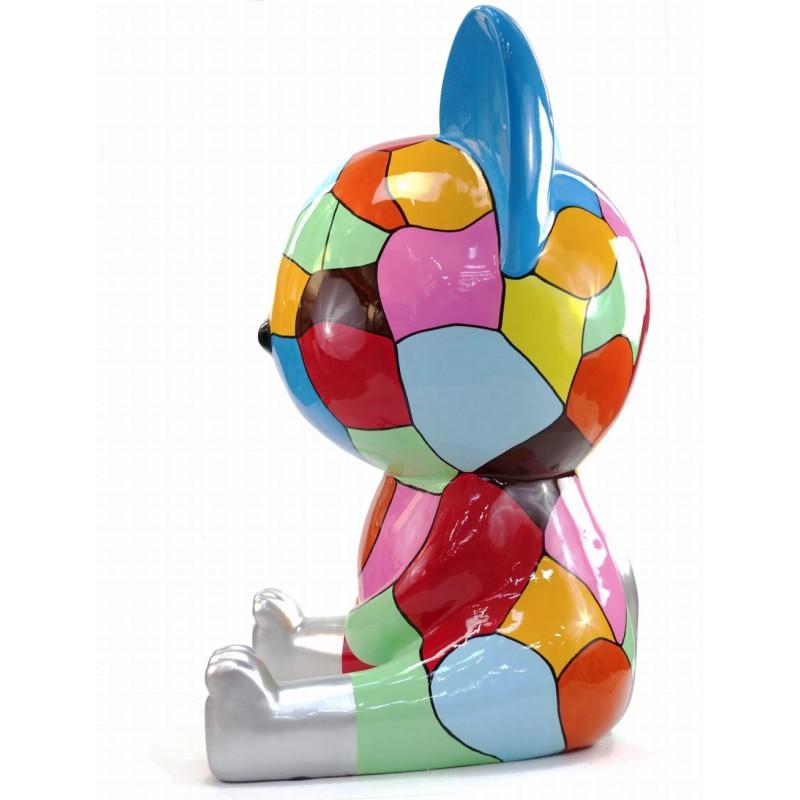 Diseño de escultura decorativa de la estatua CHAT ASSIS POP ART en resina H100 cm (Multicolor) - image 43772