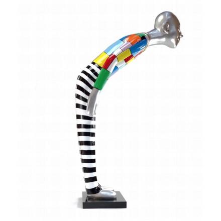 Statue decorative sculpture design WELCOME in resin H155 cm (Multicolored)