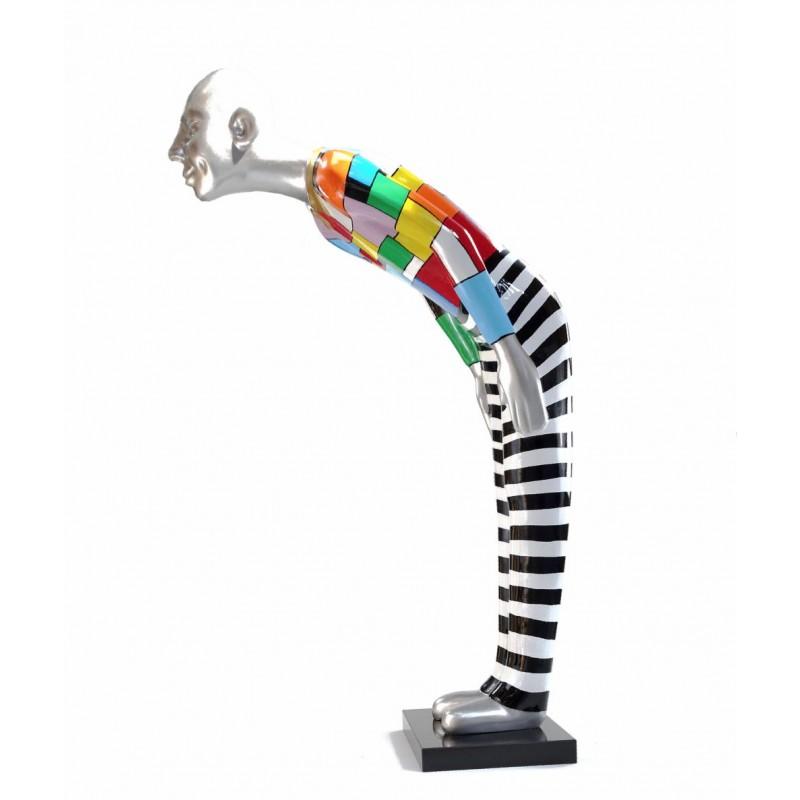 Statue dekorative Skulptur Design WILLKOMMEN in Harz H155 cm (mehrfarbig) - image 43790