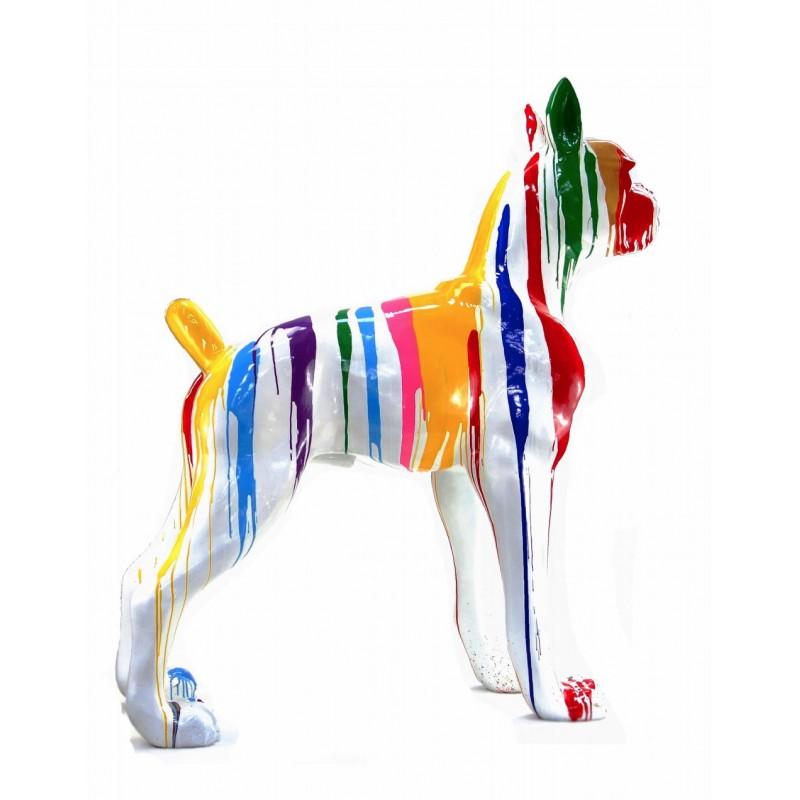 Statue sculpture décorative design CHIEN DEBOUT FLASHY en résine H150 cm (Multicolore) - image 43844