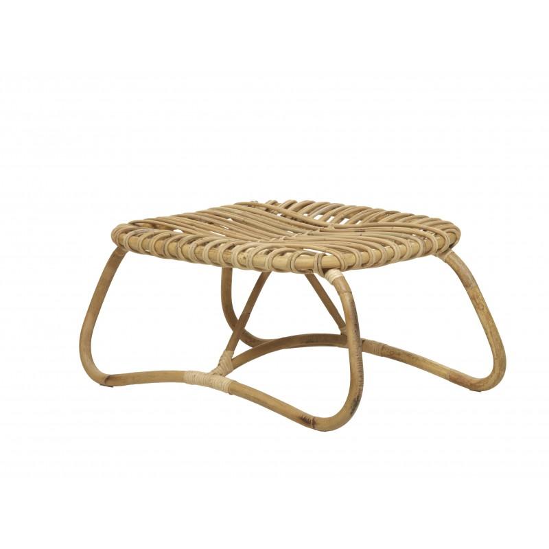 Table basse, pouf en rotin naturel BOUCLE style vintage - image 44312