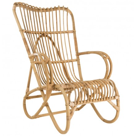 MARLENE chair in vintage style natural rattan