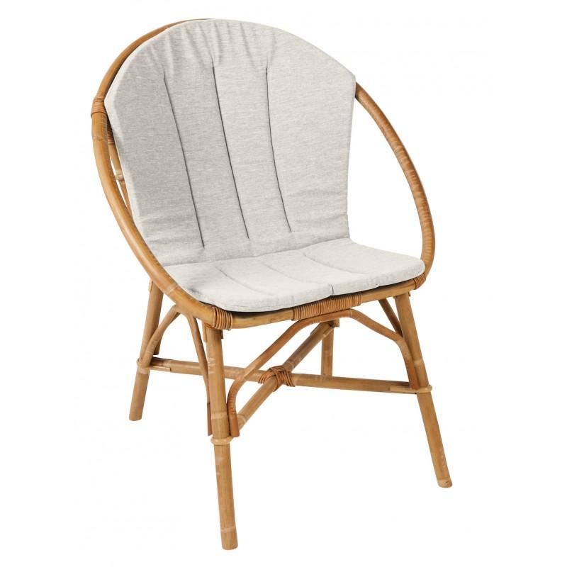 Coussin de fauteuil BRUNO en tissu (gris clair)