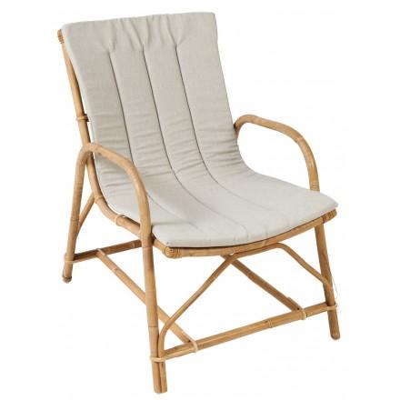 Cuscino della sedia OLIVIER in tessuto (grigio chiaro)