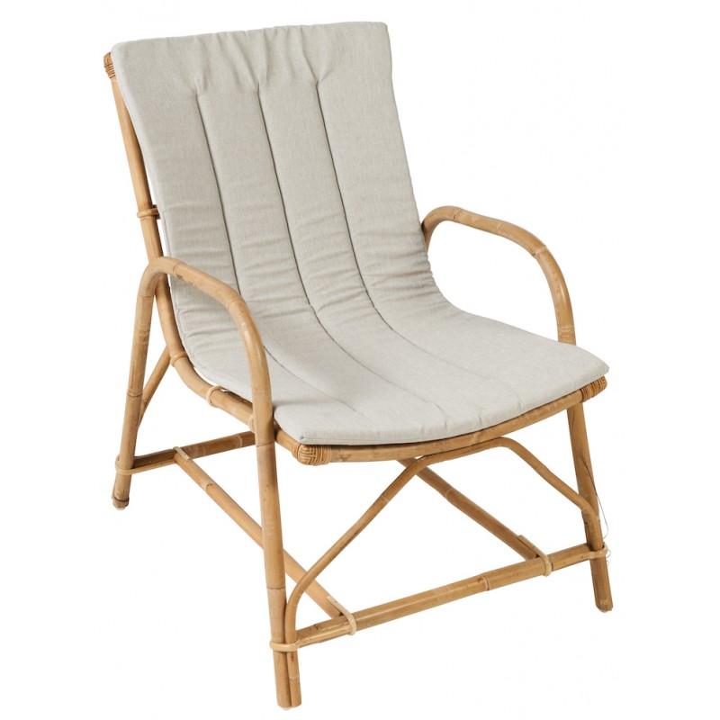 Coussin de fauteuil OLIVIER en tissu (gris clair) - image 44332