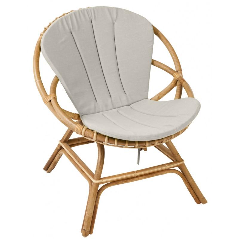 Coussin de fauteuil BRIGITTE en tissu (gris clair) - image 44335