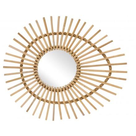 Miroir en rotin naturel ELLIPSE style vintage