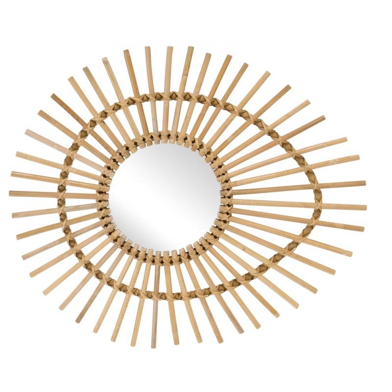 ElliPSE estilo vintage espejo de ratán natural - image 44340