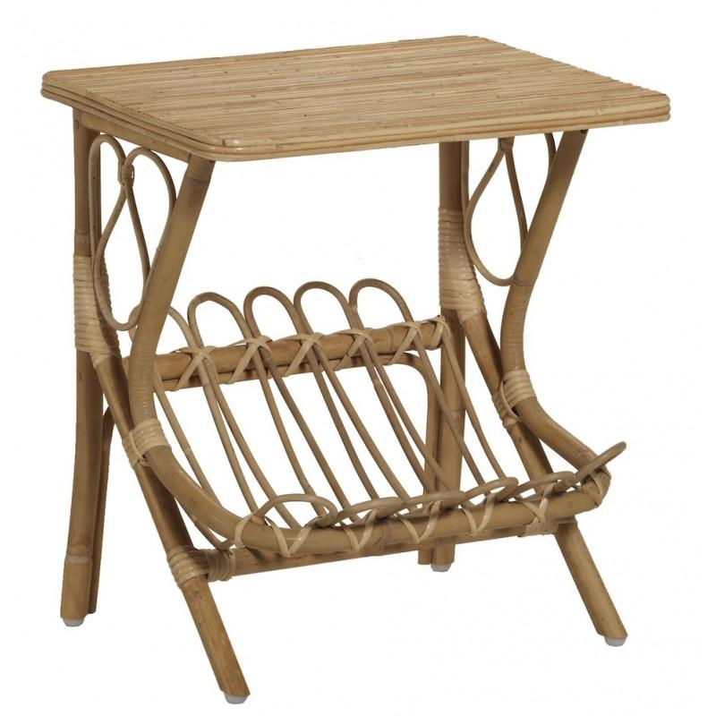 Table basse, bout de canapé LYDIE en rotin (naturel) - image 44347