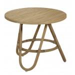 Table basse, bout de canapé DIABOLO en rotin (Ø 60 cm) (naturel)