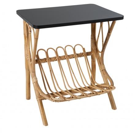 Niedriger Tisch, LYDIE Rattan Sofa (schwarz)