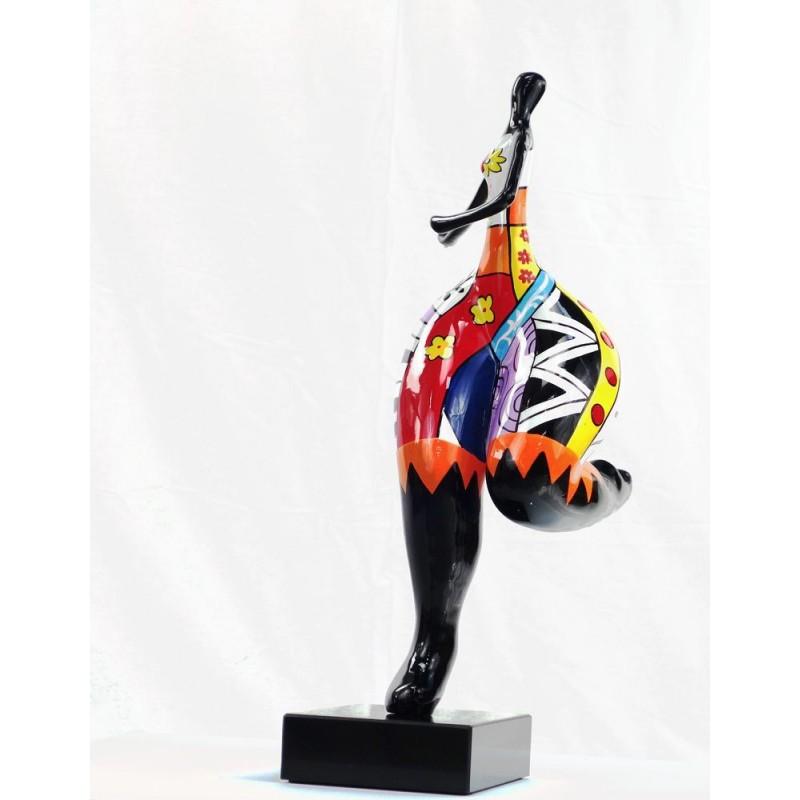 Set de 3 statues sculptures décoratives design FEMME RUMBA en résine H51 (multicolore) - image 44387