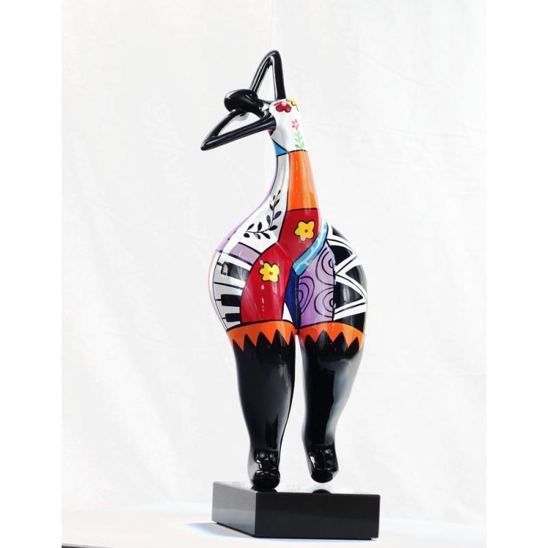 Set de 3 statues sculptures décoratives design FEMME RUMBA en résine H51 (multicolore) - image 44390
