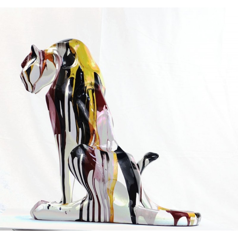 Statuette design decorative sculpture Panther Savannah resin H100 (multicolor) - image 44401