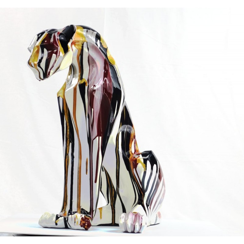 Statuette design decorative sculpture Panther Savannah resin H100 (multicolor) - image 44406