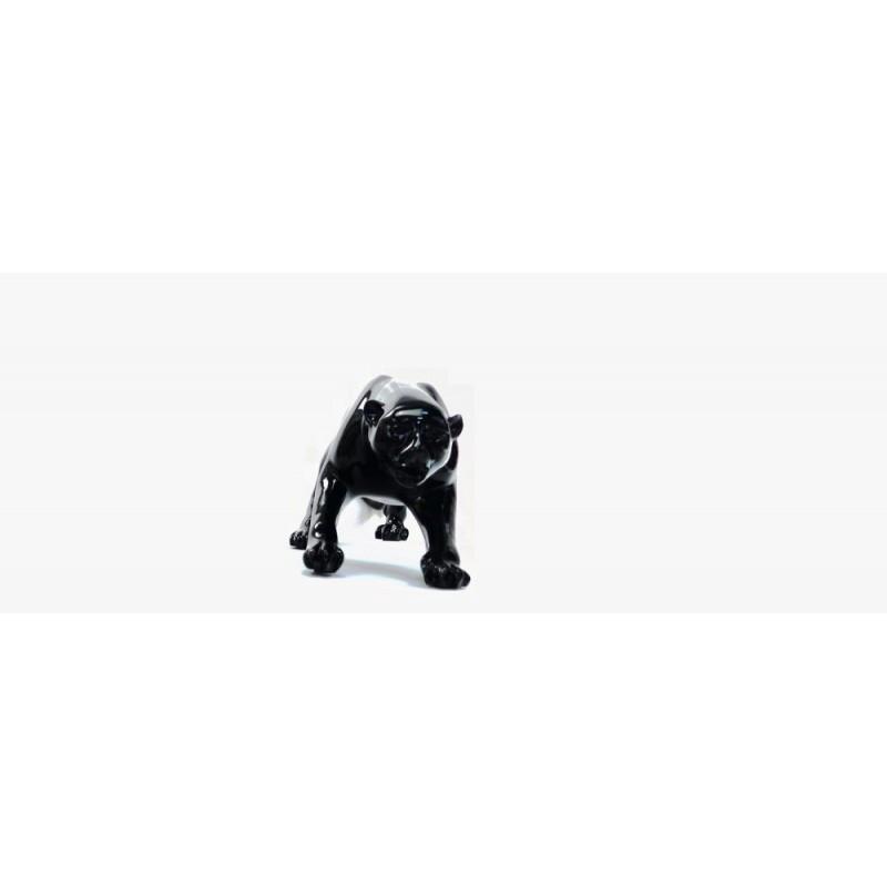 Statue sculpture décorative design PANTHERE en résine H19 (noir) - image 44409