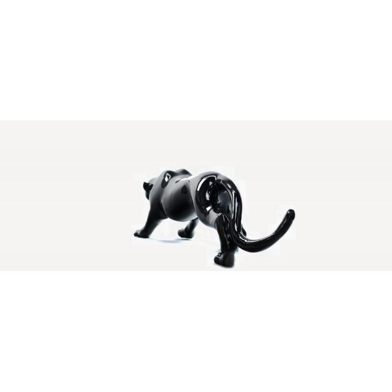 Statue sculpture décorative design PANTHERE en résine H19 (noir) - image 44413