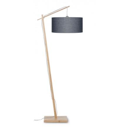 Lámpara de lino verde ANDES (natural, gris oscuro)