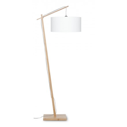 AnDES green linen lamp (natural, white)