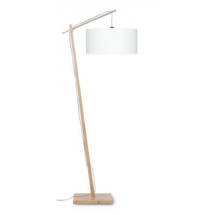 Lámpara de lino verde AnDES (natural, blanca)