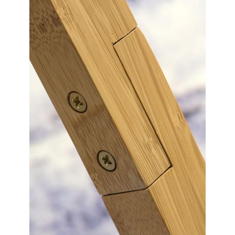 Lampada in legno in piedi e paralume di lino eco-friendly annaPURNA (lino naturale e leggero) - image 44508