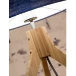 Bamboo table lamp and annaPURNA eco-friendly linen lamp (natural, black)