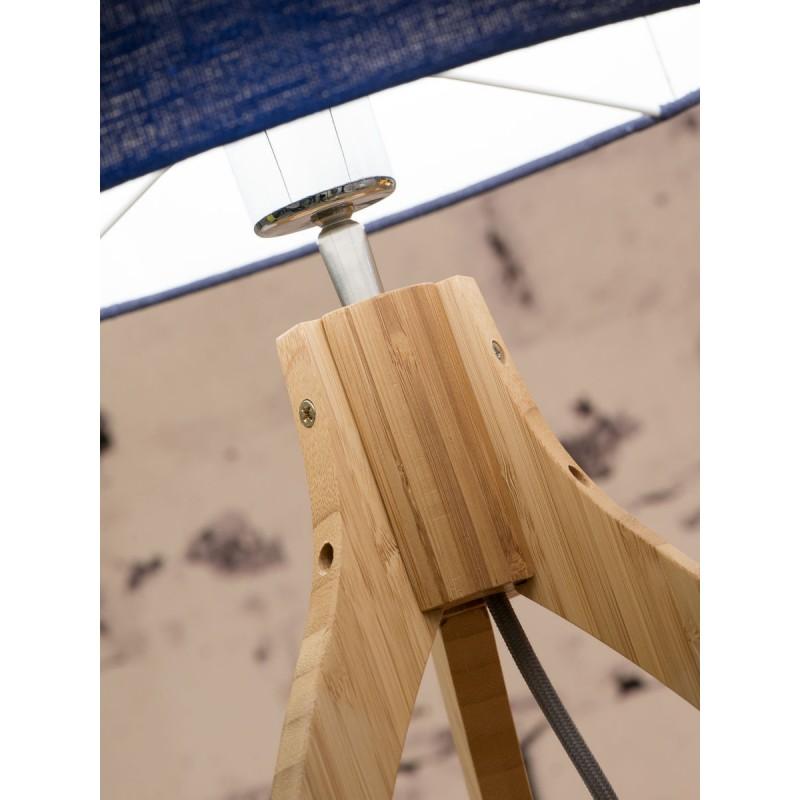 Bambus Tischleuchte und annaPURNA umweltfreundliche Leinenlampe (natürlich, schwarz) - image 44517