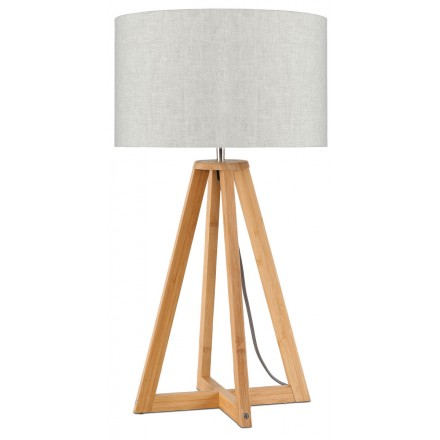 Bamboo table lamp and EVEREST eco-friendly linen lamp (natural, light linen)