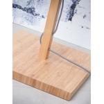 Lampada in legno in piedi con bambù e paralume di lino eco-friendly FUJI (naturale, nero)