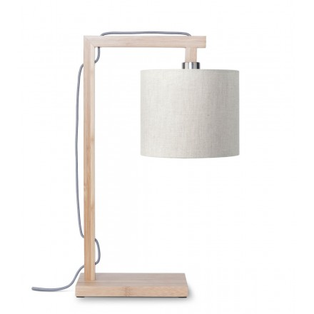 Bambus Tischlampe und himalaya ökologische Leinenlampe (natürliche, leichte Leinen)