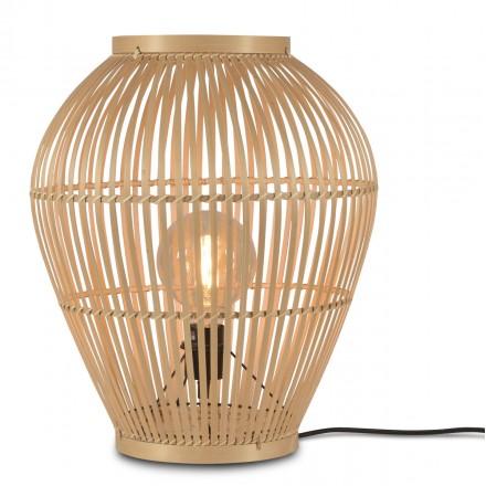 Lámpara de mesa, lámpara de pie de bambú SMALL (H50) TUVALU (natural)