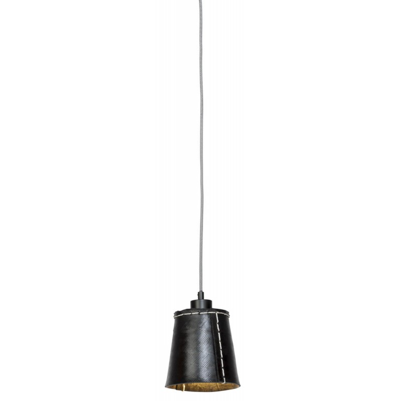 AMAZON SMALL 1 pantalla de lámpara de suspensión de neumáticoreciclado (negro)