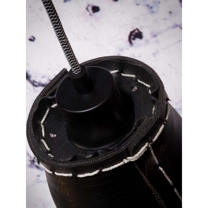 AMAZON SMALL 1 pantalla de lámpara de suspensión de neumáticoreciclado (negro) - image 45001