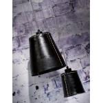 AMAZON SMALL 1 tonalità lampada sospensione pneumatici riciclati (nero)