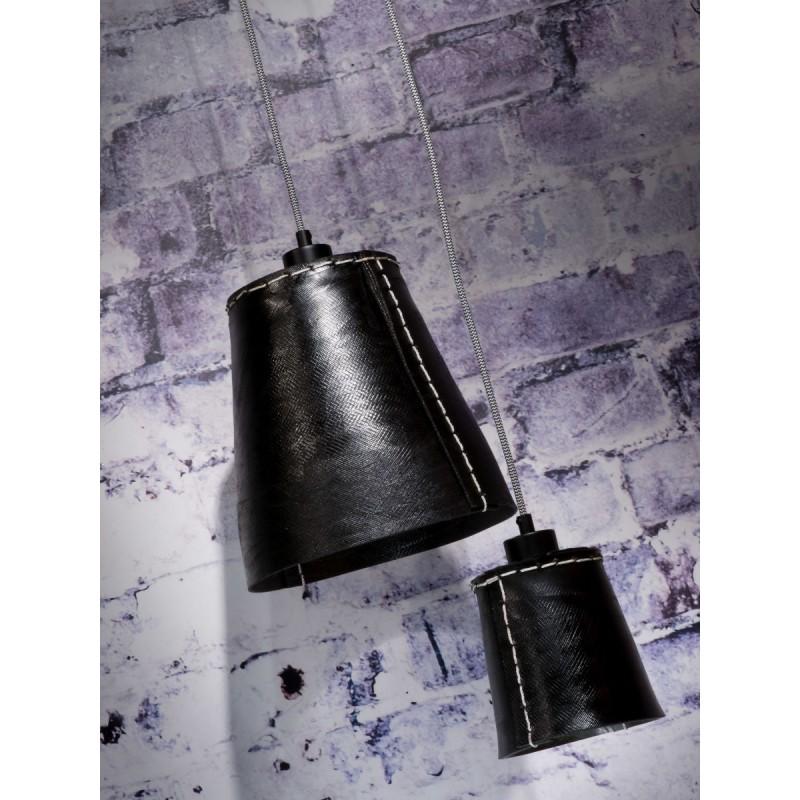 AMAZON SMALL 1 tonalità lampada sospensione pneumatici riciclati (nero) - image 45003