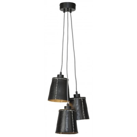 Lampe à suspension en pneu recyclé AMAZON SMALL 3 abat-jours (noir)