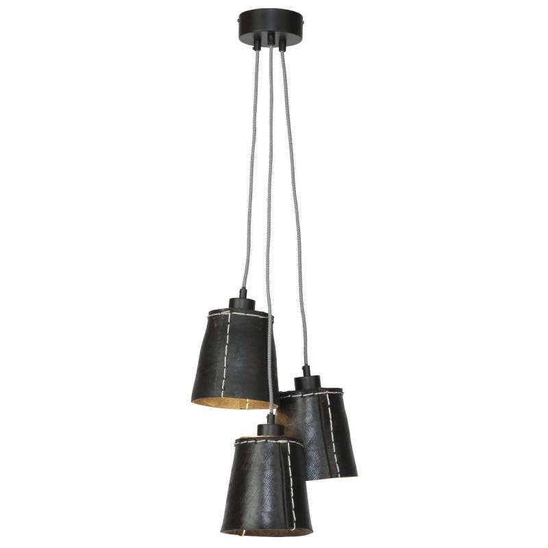 Lampe à suspension en pneu recyclé AMAZON SMALL 3 abat-jours (noir) - image 45010