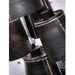 Amazon SMALL 7 paralume lampada pneumatici riciclati (nero)