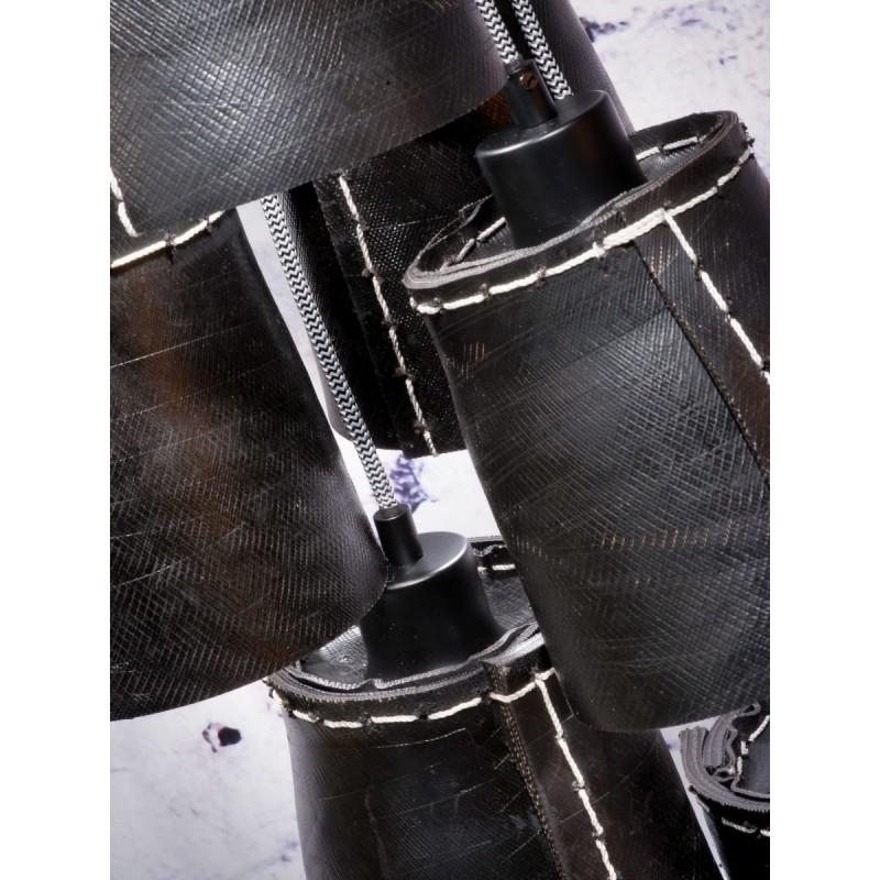 AMAZON SMALL 7 Lampenschirm recycelt Reifen Hängeleuchte (schwarz) - image 45022