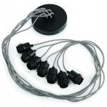 Lámpara de suspensión de neumáticos reciclada AMAZON SMALL 7 (negro)